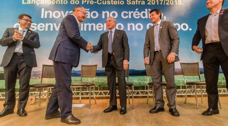 Alckmin e Temer anunciam recursos de R$ 12 bilhões para agricultores paulistas