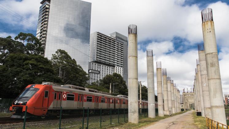 Começa a obra da estação Morumbi do monotrilho do Metrô, a última da Linha 17