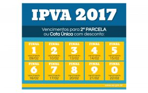 IPVA: 2ª parcela dos veículos com placa final 8 vence segunda-feira