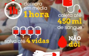 Doe sangue: não dói, faz bem para a saúde e salva até quatro vidas