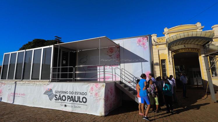 Município de Rincão, na região de Araraquara, recebe carreta da mamografia