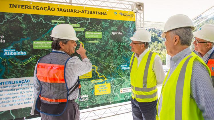 Obras da interligação Jaguari-Atibainha têm 80% do cronograma concluído