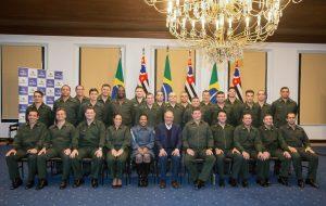 Alckmin recebe oficiais da Escola de Comando e Estado-Maior do Exército