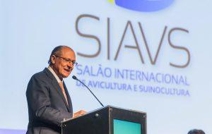 Exportação de proteína animal é celebrada por Alckmin em evento