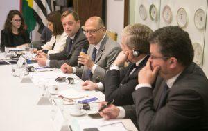 Empresários franceses participam de reunião no Palácio dos Bandeirantes