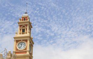 Torre do relógio e fachada do Museu da Língua Portuguesa são entregues