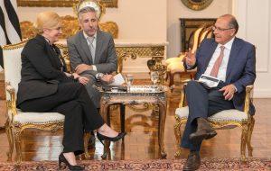 Em visita inédita, governador Alckmin recebe presidente croata