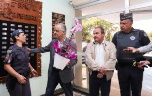 Governador homenageia PM que evitou assalto em Suzano