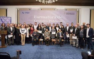 Governo de SP e FGV celebram formatura de Gestores Públicos