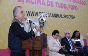 Em evento na capital, governo lança programa estadual Pet São Paulo