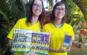 Ex-alunas de Etec e Fatec criam aplicativo de figurinhas da Copa