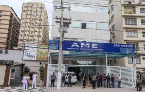AME de São Vicente recebe visita técnica