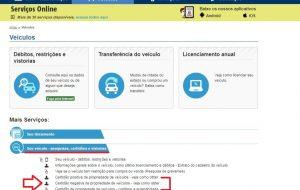 Pela internet, é possível obter a certidão de propriedade do veículo