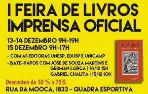 Editora Imprensa Oficial de SP promove primeira Feira de Livros