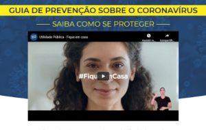 Guia de prevenção sobre o novo coronavírus