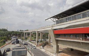Construção da via da Linha 17-Ouro é retomada