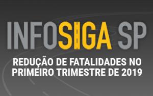 InfosigaSP registra redução de fatalidades no 1º trimestre do ano