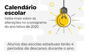 Calendário Escolar: confira cronograma do ano letivo de 2020