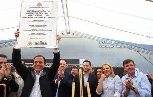 Governo de SP inaugura acesso a Ribeirão Pires e inicia recuperação da SP-031