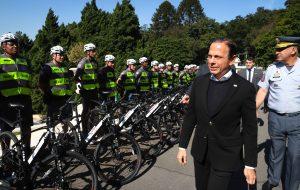 Entrega de bicicletas elétricas para Polícia Militar na capital