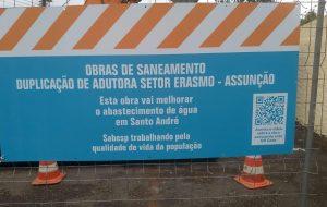 Sabesp inicia obra para ampliar o abastecimento em Santo André