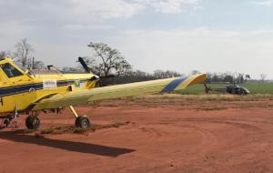 Defesa Civil Estadual envia aeronave para ajudar no combate a incêndio em Castilho