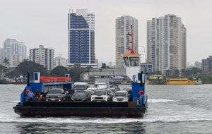 Travessia Santos/Guarujá agora conta com sete balsas