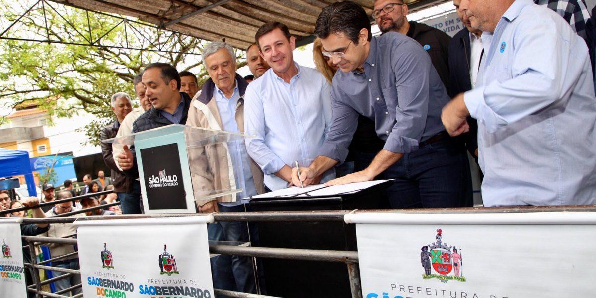 Governo de SP inicia no ABC obra que levará tratamento de esgoto a 382 mil pessoas