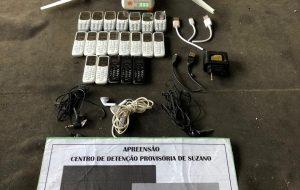 No CDP de Suzano, agentes apreendem drone com celulares