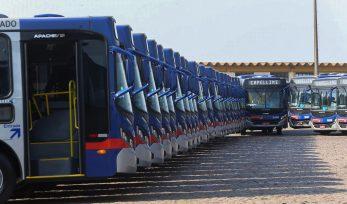 Entrega de ônibus na região de Campinas