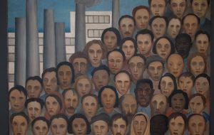 """""""Operários"""", de Tarsila do Amaral, está em exposição no Palácio dos Bandeirantes"""