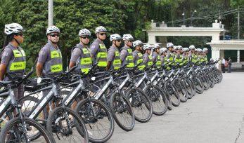 Entrega de drones e bicicletas elétricas à PM