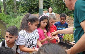 Alunos da rede estadual participam de plantio de mudas em Mogi das Cruzes