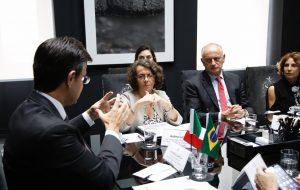Vice-ministra italiana é recebida no Palácio dos Bandeirantes