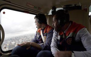 Governador sobrevoa áreas atingidas pela chuva na Grande São Paulo