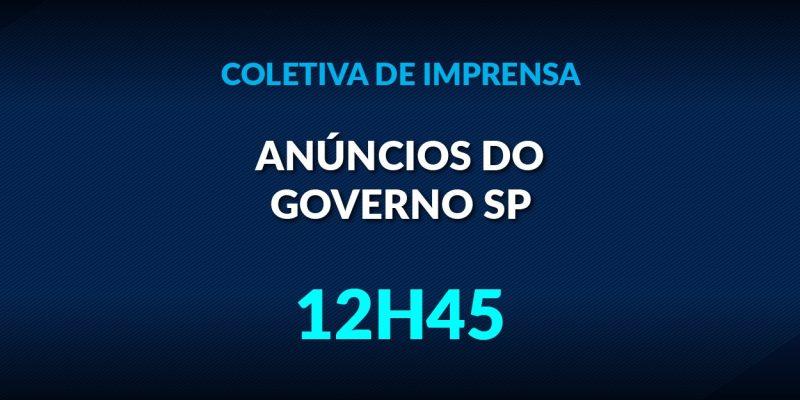Governo de SP apresenta informações sobre o combate ao coronavírus