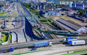 Concluída entrega de segundo viaduto para a Nova Entrada de Santos