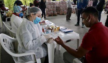 Realização de testes para COVID-19 em comunidade quilombola