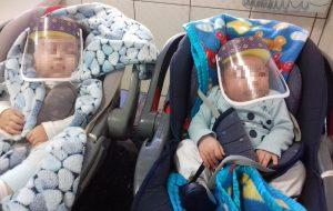 Bebês recebem protetores faciais na Penitenciária Feminina de Tupi Paulista