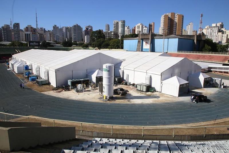 Hospital de Campanha do Ibirapuera encerra atividades com 99% de aprovação dos usuários