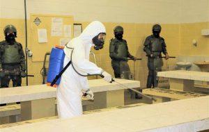 Exército realiza desinfecção no Centro de Ressocialização em Lins