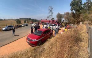 SP instala base operacional para combater incêndio na região de São João da Boa Vista