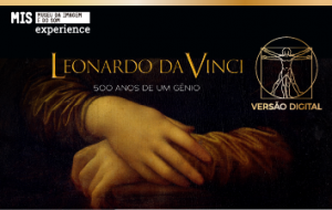 Exposição sobre 500 anos de Leonardo Da Vinci em formato digital