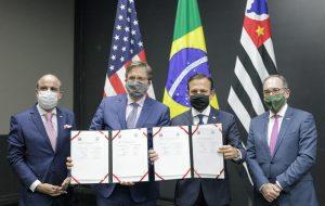 Governo de SP assina acordo de cooperação com Estados Unidos