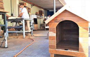 Reeducandos de Serra Azul produzem casinhas para cães abandonados
