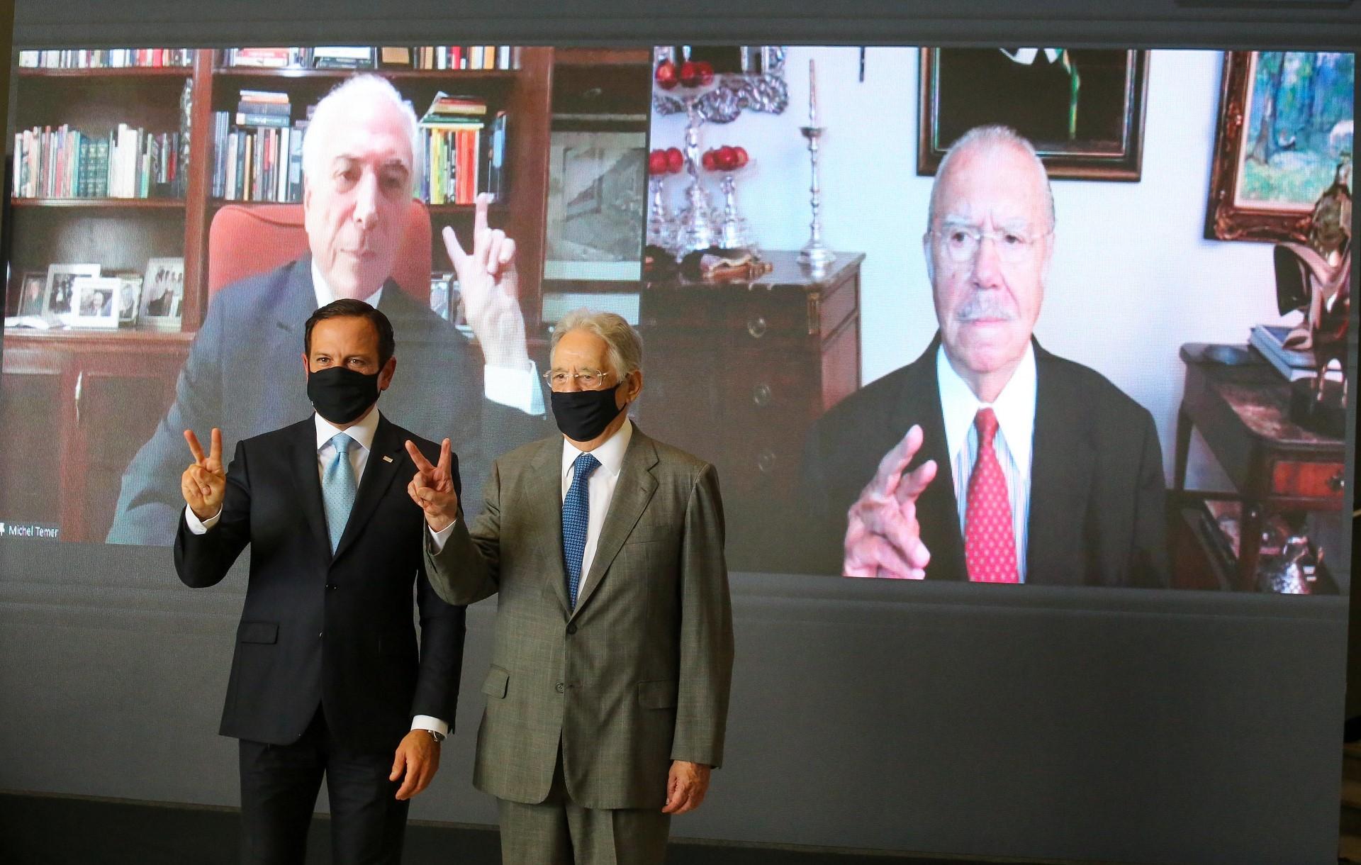Governo de SP reúne ex-presidentes para ressaltar importância da vacinação
