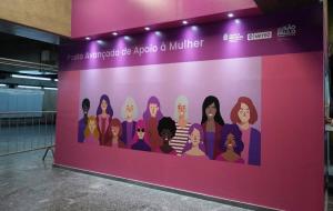 Posto de Apoio à Mulher da estação Santa Cecília do Metrô completa três meses