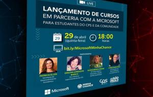 Centro Paula Souza e Microsoft anunciam 1,2 mil vagas em cursos de tecnologia