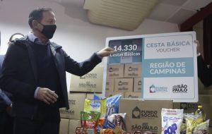 SP entrega mais de 14 mil cestas básicas e libera R$ 18 milhões do Fundocamp