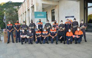 Defesa Civil e Polícia Militar de SP entregam 1.110 cobertores para o Fundo Social